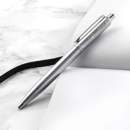 Personalised Sheaffer Brushed Chrome Ballpoint Pen